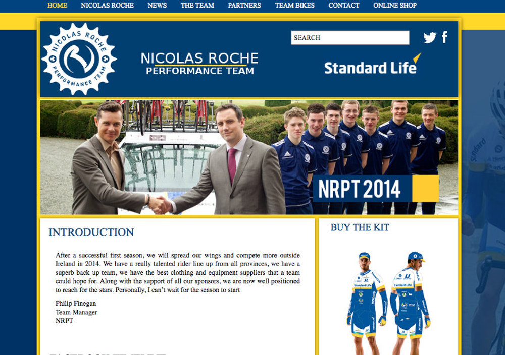 Nicolas Roche Performance Team